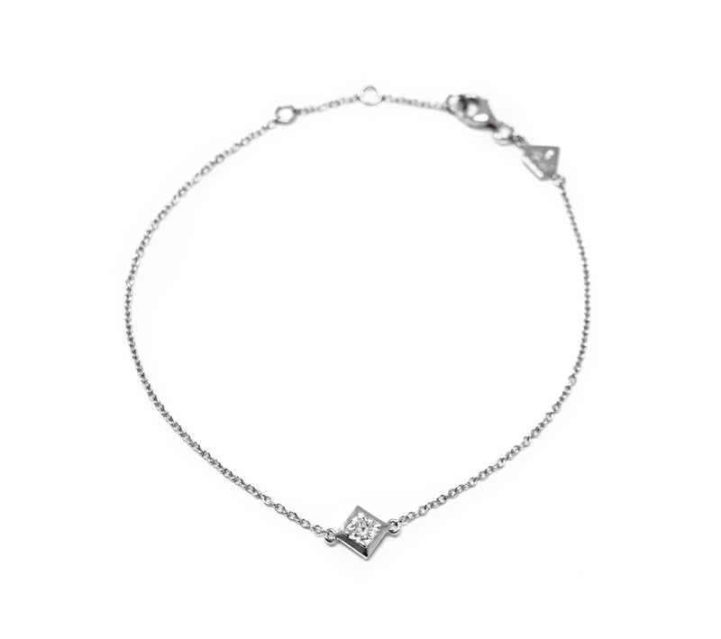 Princess Diamond Bracelet (Includes 2 diamonds)