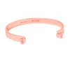Mothers Love Skinny Elastic Bangle 14K Gold or .925 Silver Plated