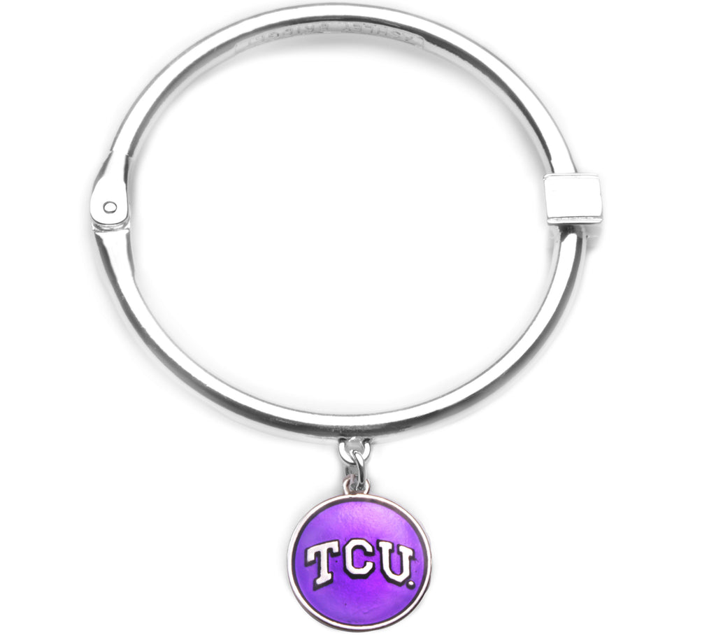 TCU Horned Frogs Hinge Bangle Bracelet