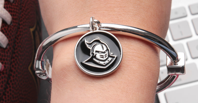 UCF Knights Hinge Bangle Bracelet - All Silver
