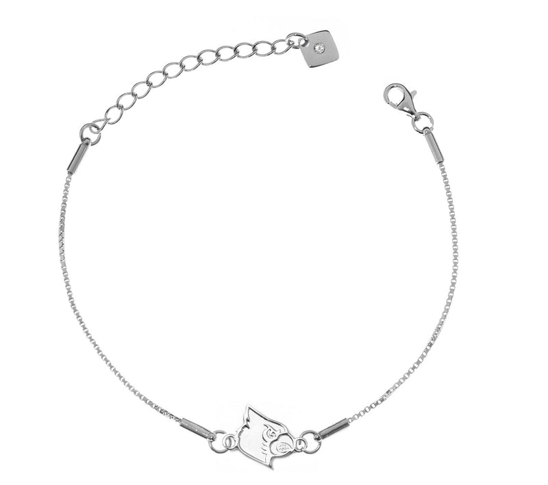 University of Louisville Cardinals .925 Sterling Silver Bracelet