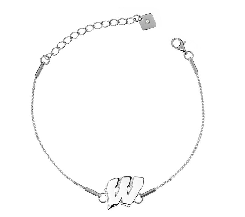 University of Wisconsin Badgers .925 Sterling Silver Bracelet