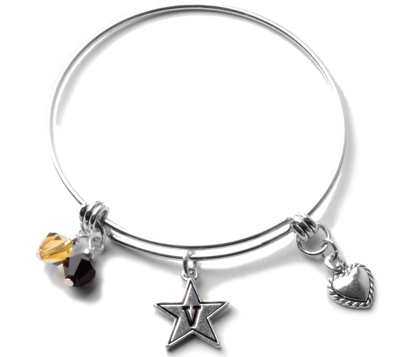 Vanderbilt University Commodores Bangle Bracelet