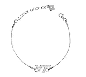 Virginia Tech Hokies .925 Sterling Silver Bracelet