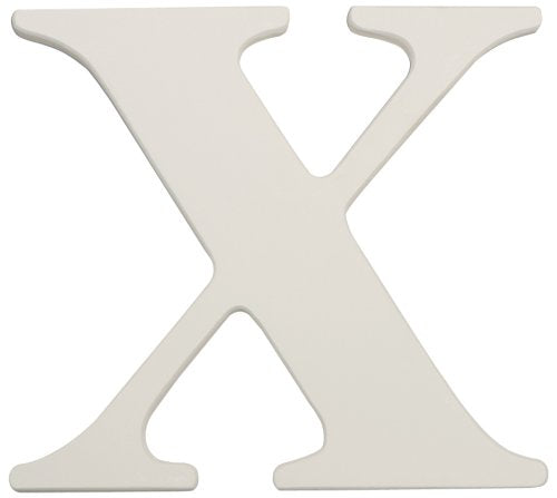 "Kids Line™ White Wooden Letter, ""X"""