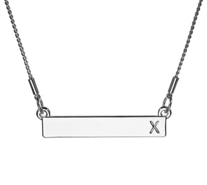 Monogram Necklace - X
