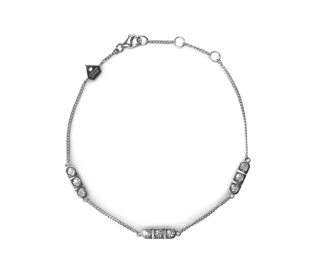 Linear Diamond Bracelet (Includes 10 diamonds)