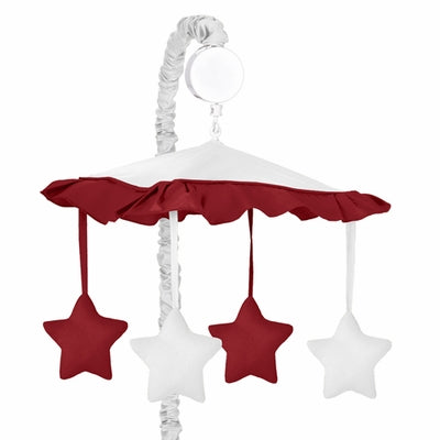 Sweet JoJo Designs® Hotel White and Red Musical Mobile