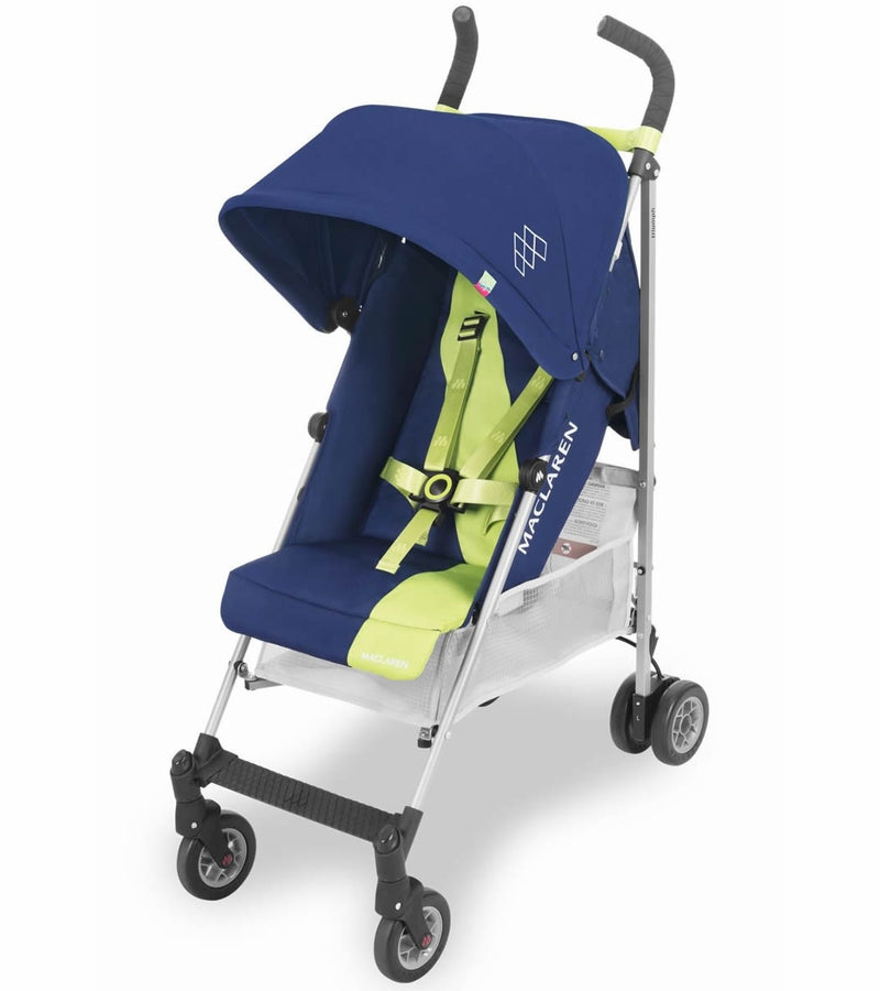 Maclaren Triumph Stoller in Medieval Blue/Limeade