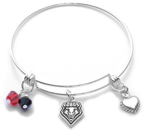 New Mexico Lobos Bangle Bracelet