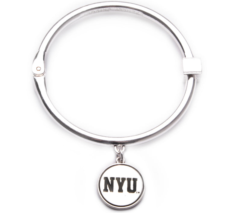 NYU Bobcat Hinge Bangle Bracelet