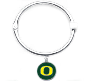 Oregon Ducks Hinge Bangle Bracelet