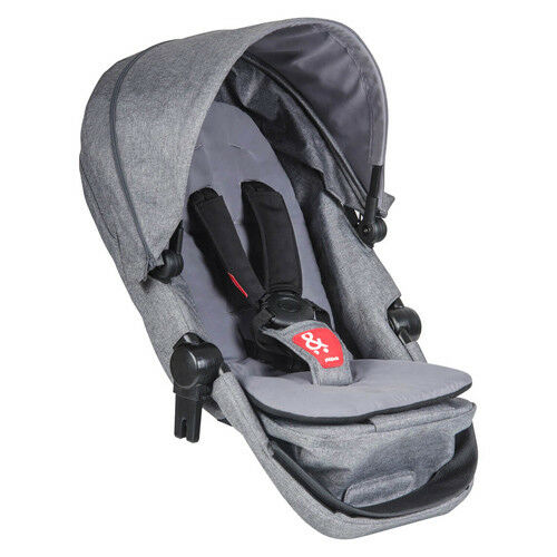 Phil and Teds Voyager Double Kit - Grey Marl (Parent Facing)