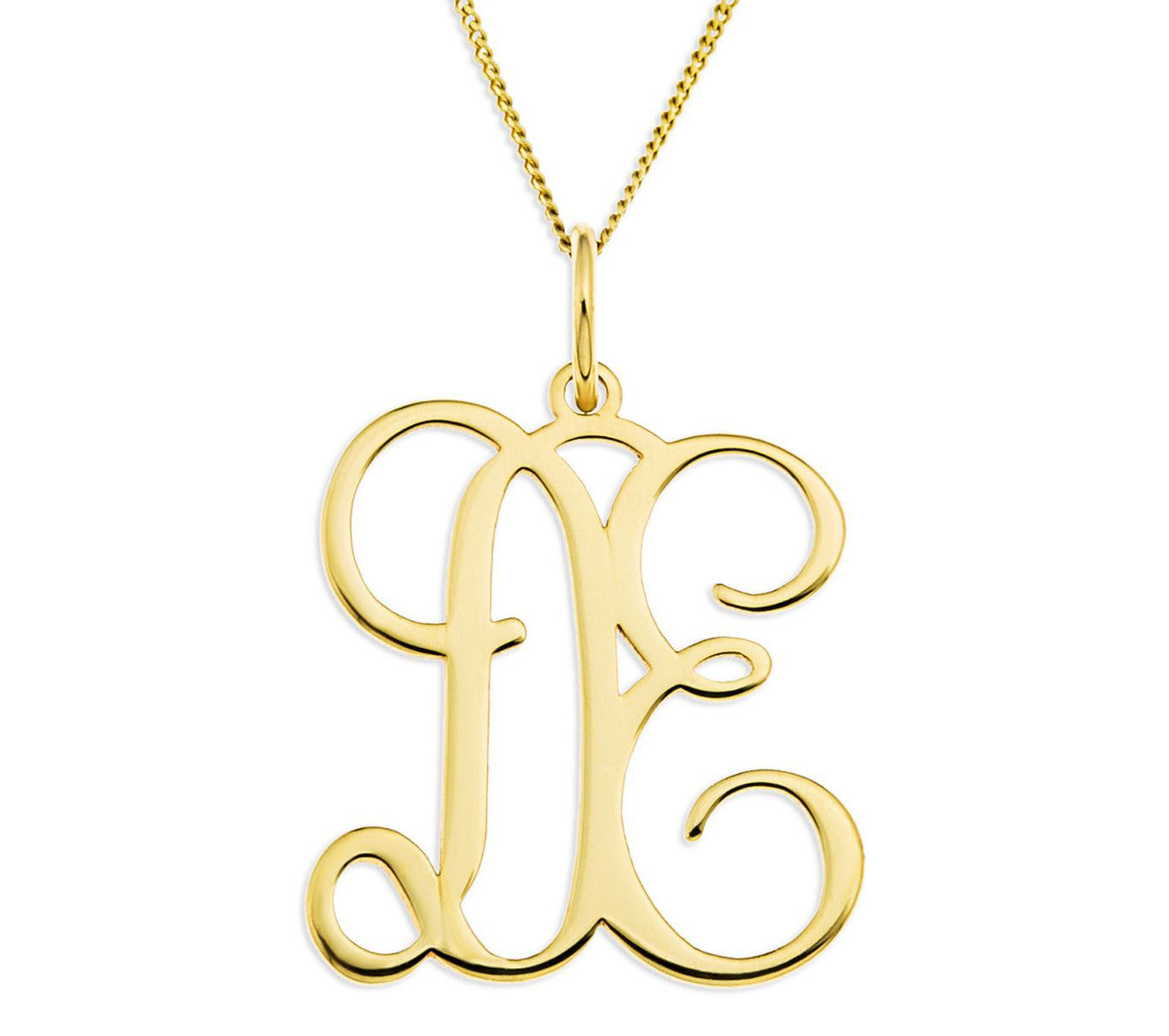 necklace sterling pendant k silver diamond initial