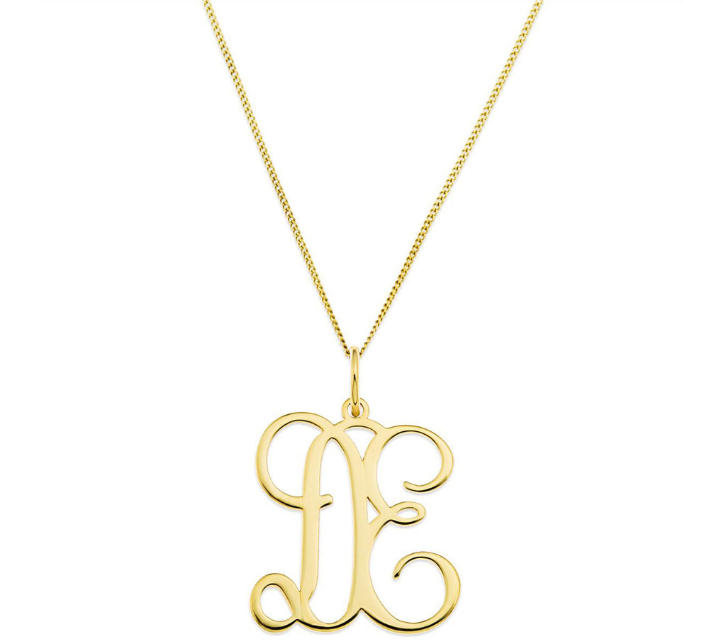Two Initial Pendant Necklace