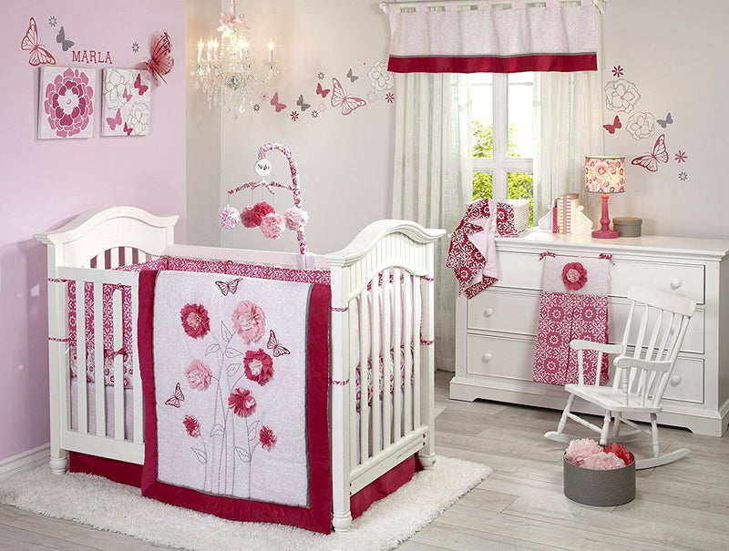 Butterfly Bouquet - 4pc Crib Set