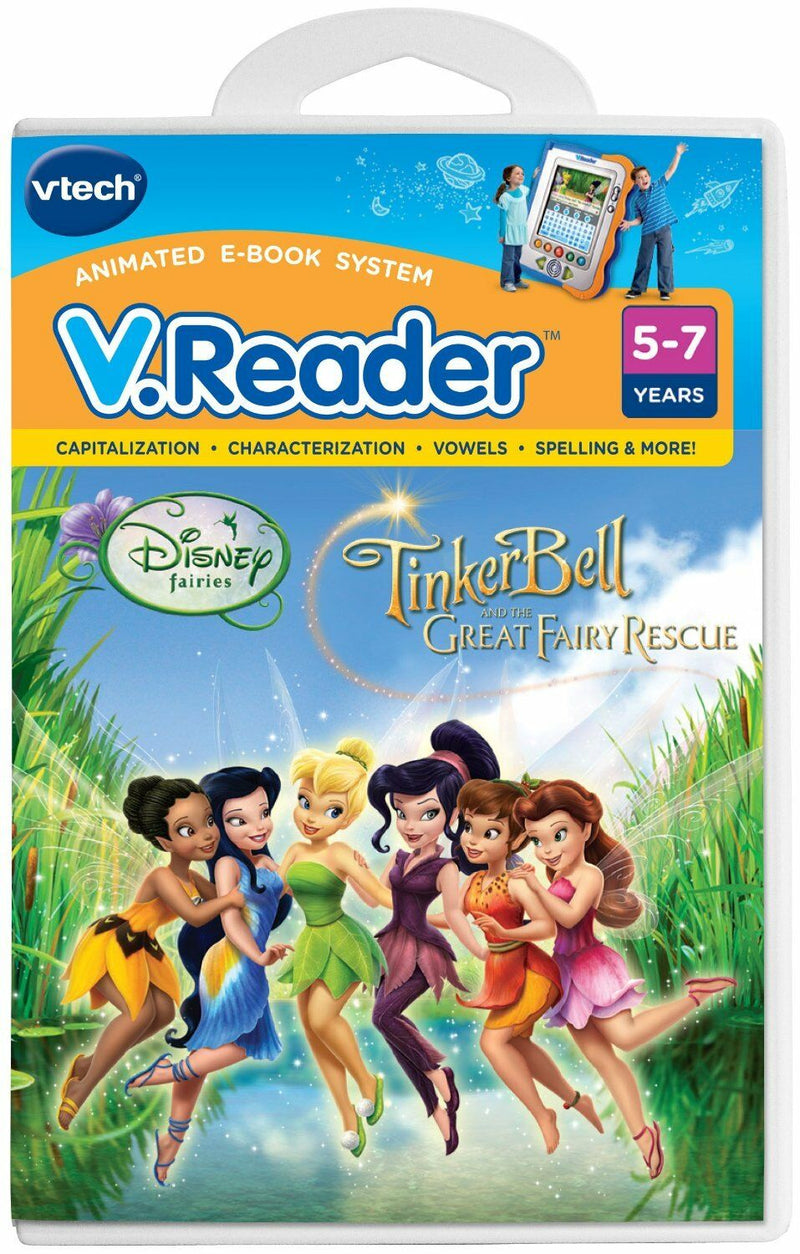 Vtech V.Reader Disney Fairies TinkerBell New Fairy Rescue AGE 5-7