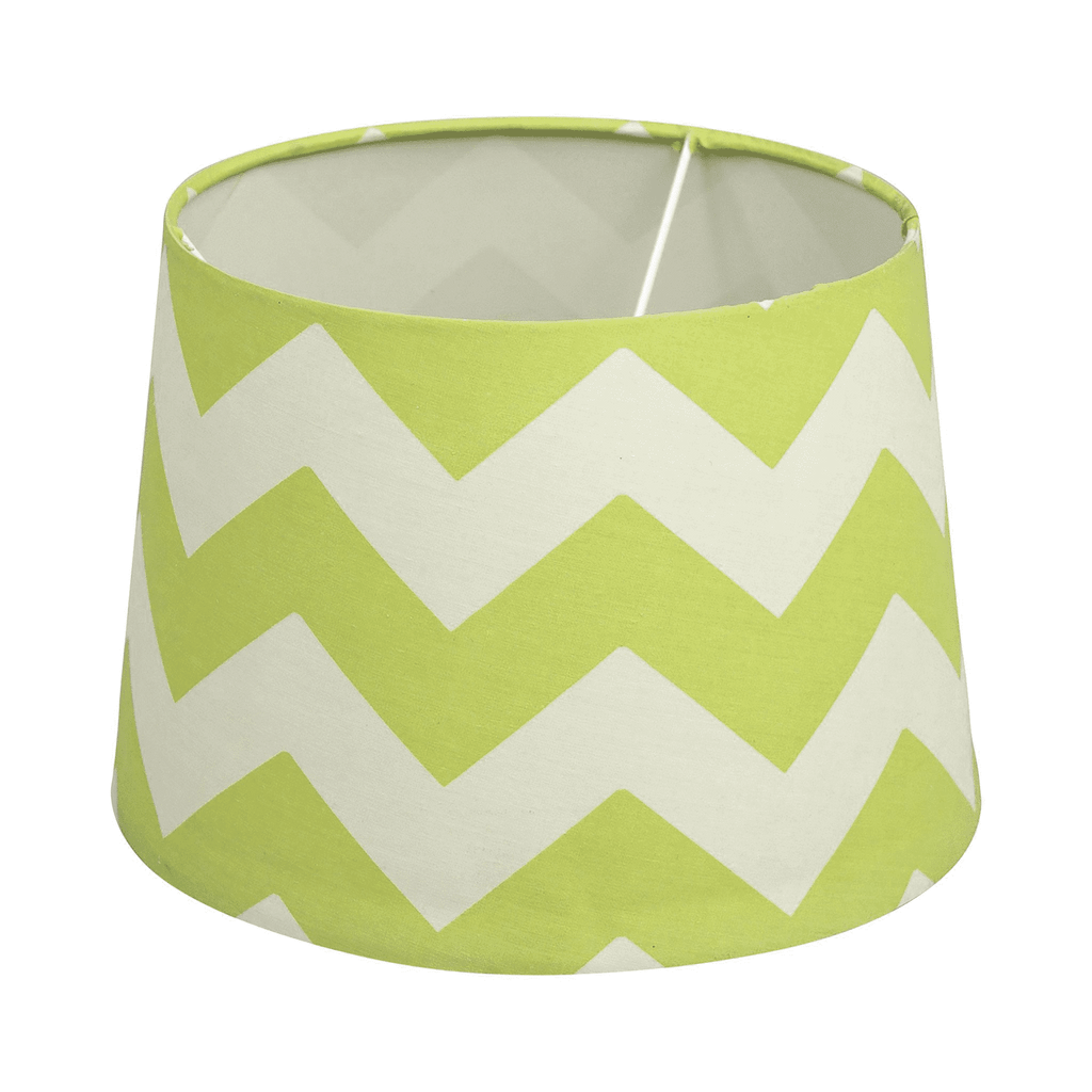 Lolli Living Lamp Shade - Green Zig-Zag