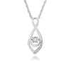 10K White Gold Diamond Teardrop Necklace (Includes 3 Diamonds)