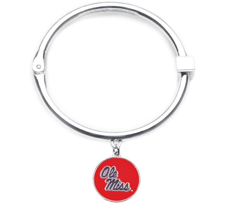 Ole Miss Rebels Hinge Bangle Bracelet