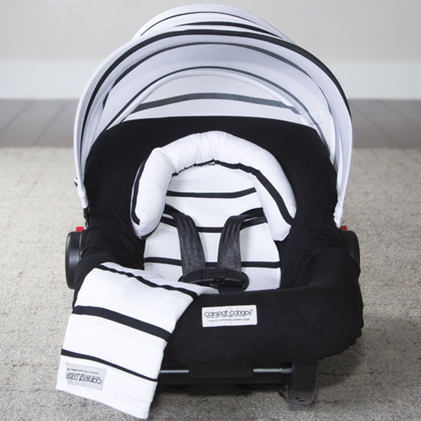 Black Stripes Car Seat Set