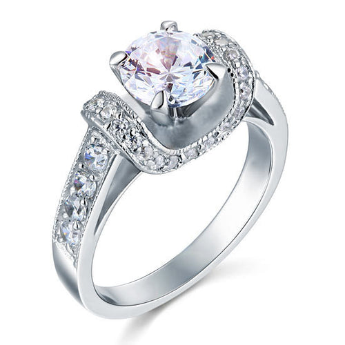 1.25 Carat Simulated Diamond Sterling Silver Ring