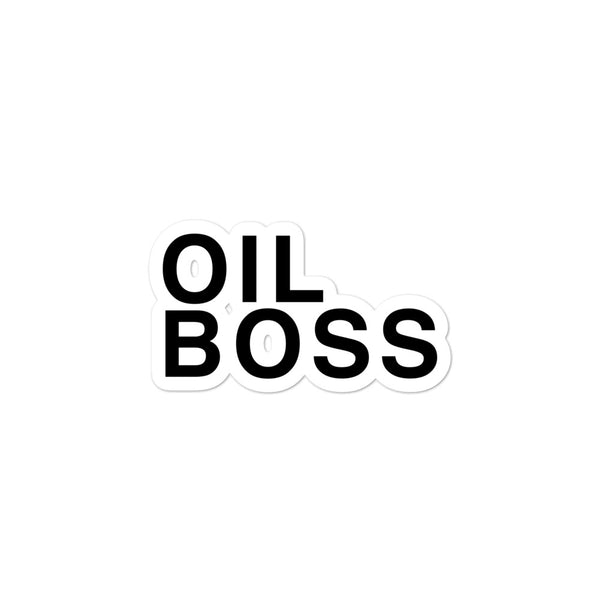 Oil Boss Bubble-Free Stickers