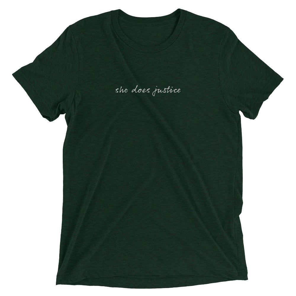 'She Does Justice' Short Sleeve T-shirt