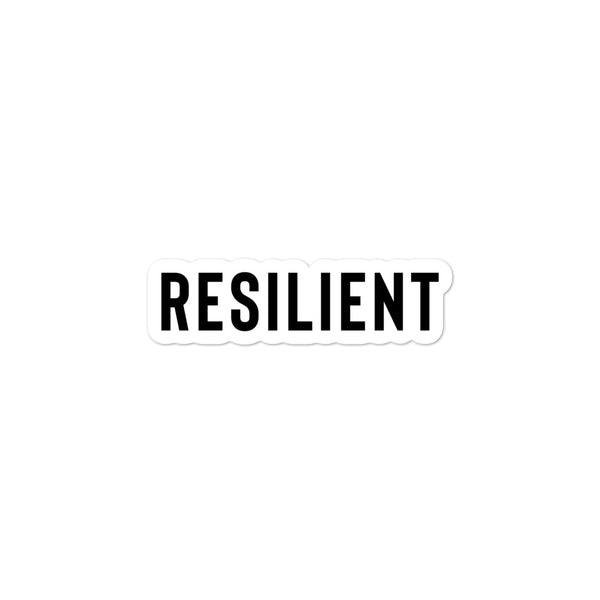 Resilient Bubble-Free Stickers