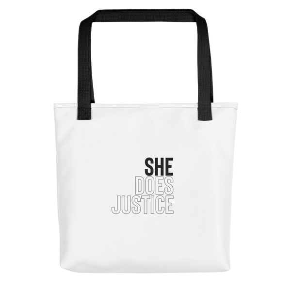 'She Does Justice' Tote bag