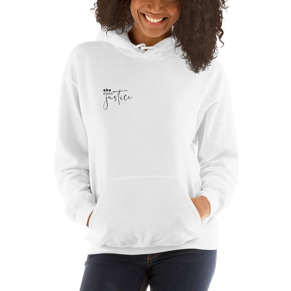 She Does Justice Unisex Hoodie
