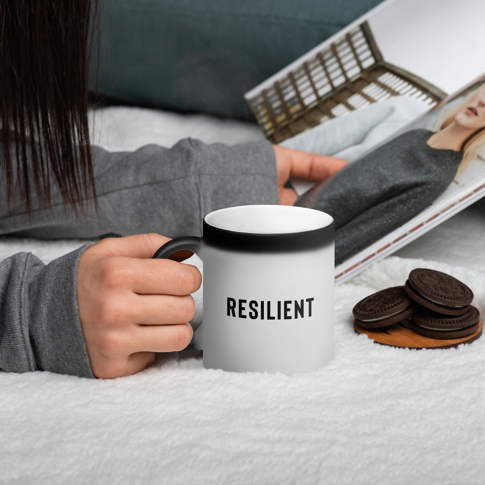Resilient Matte Black Magic Mug