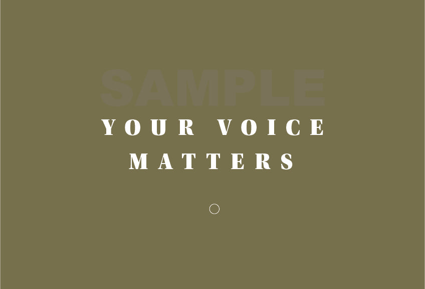 Your Voice Matters Printable