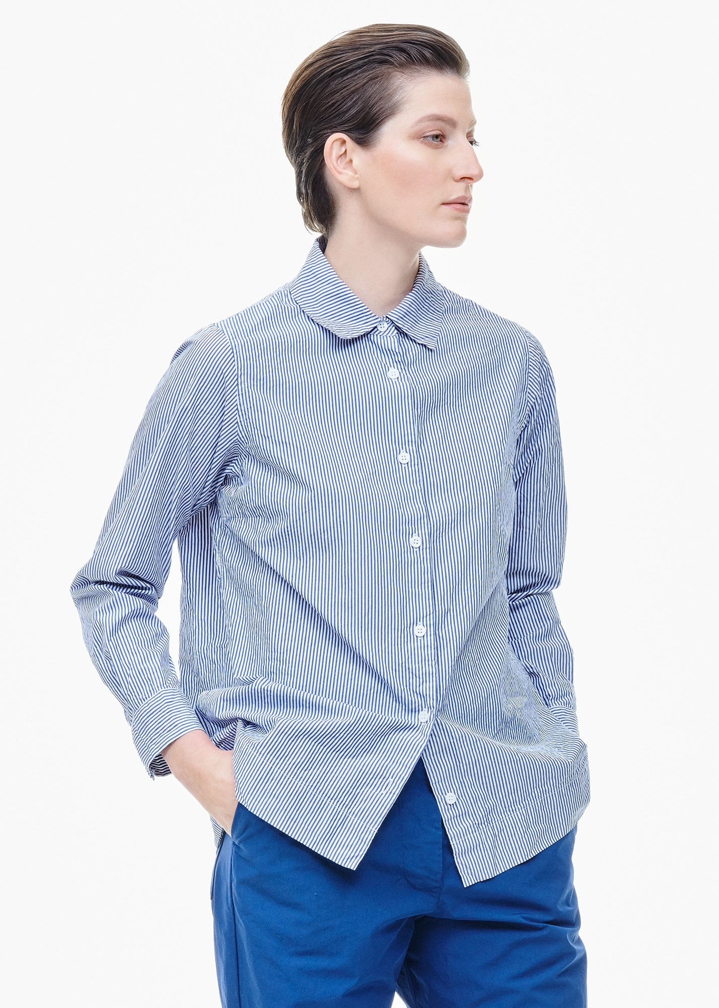 Chloe Shirt Blue/ White Stripe