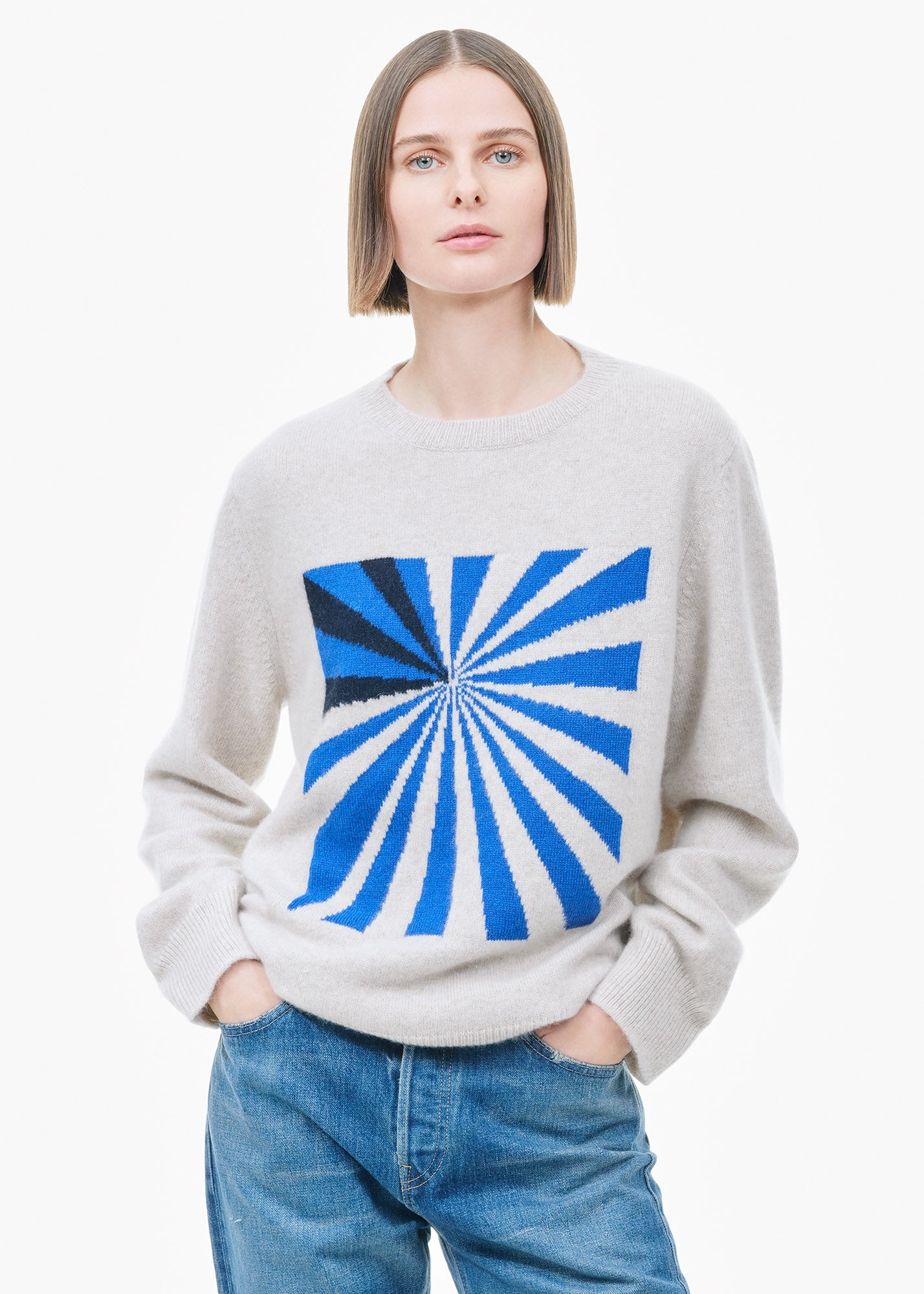 Odd Space Racing Crew White/ Blue