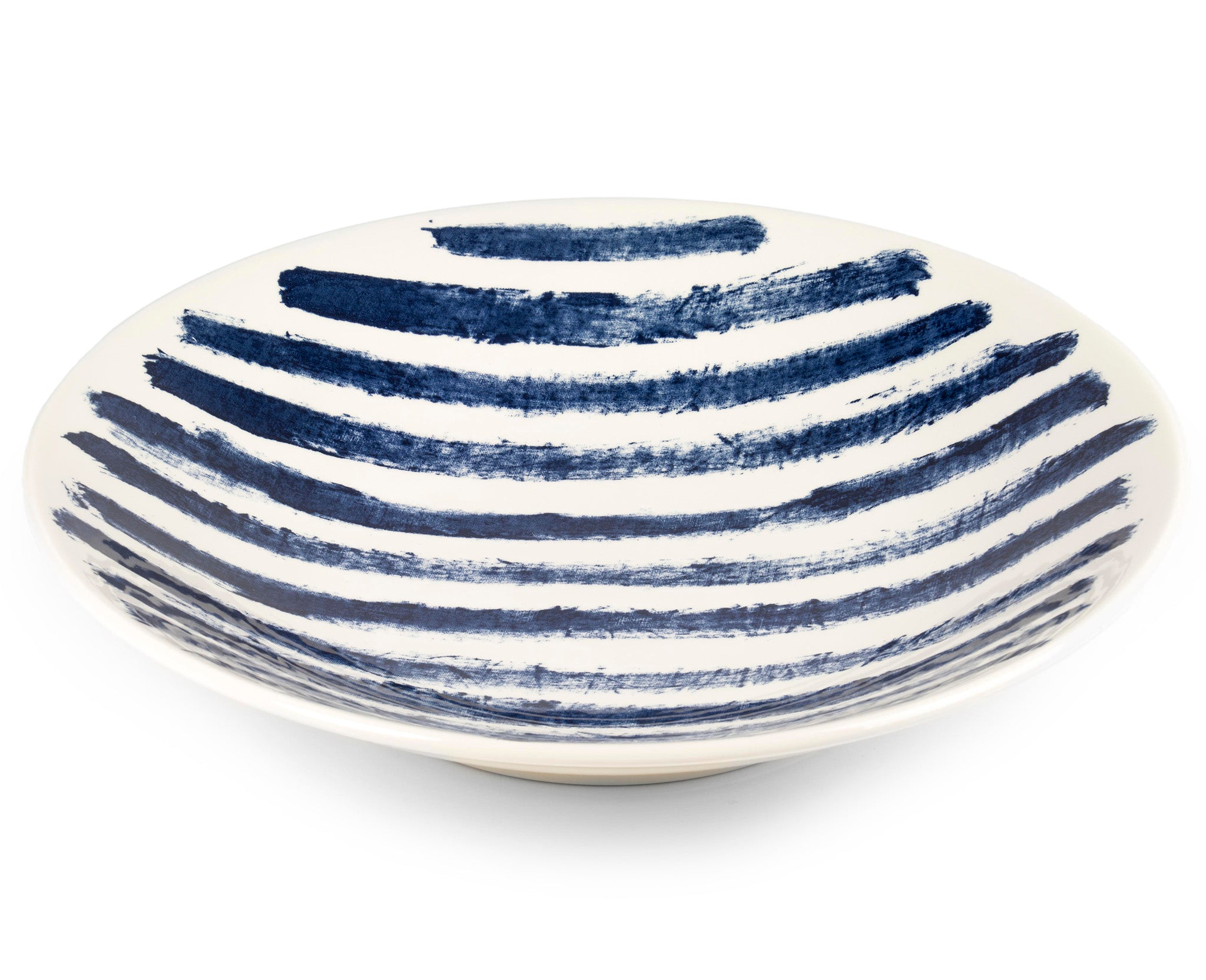 1882Ltd Indigo Rain Large Serving Bowl