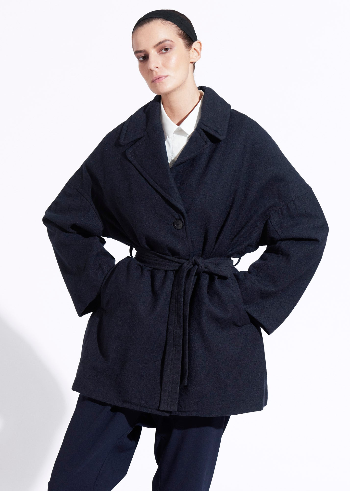Slob Coat Navy Wool
