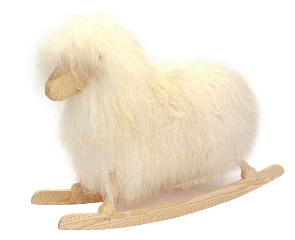 Povl Kjaer Povl Kjaer Rocking Sheep with White Long Hair