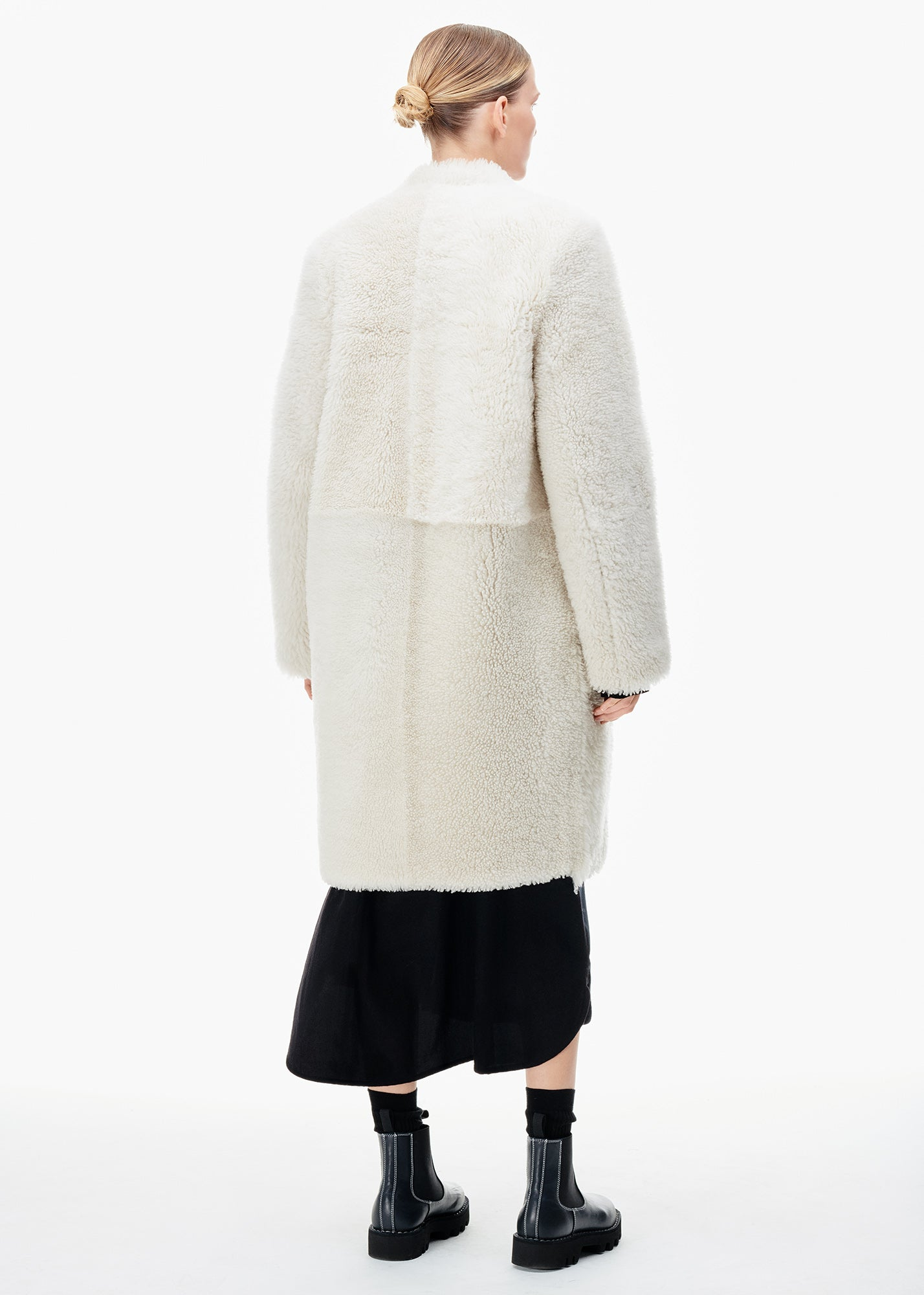 Sullivan Shearling Coat Quartz