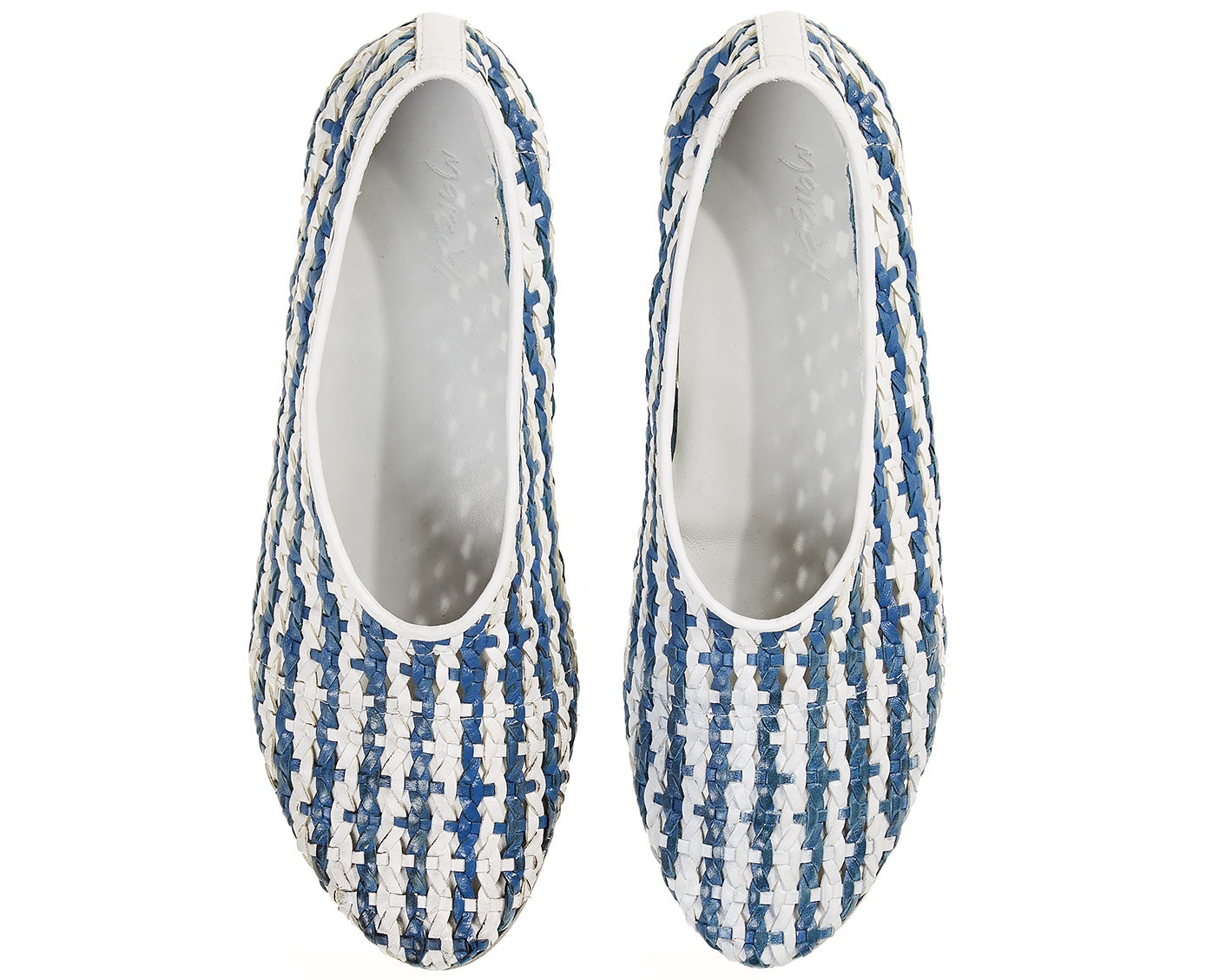 Flat Shoes White/ Blue