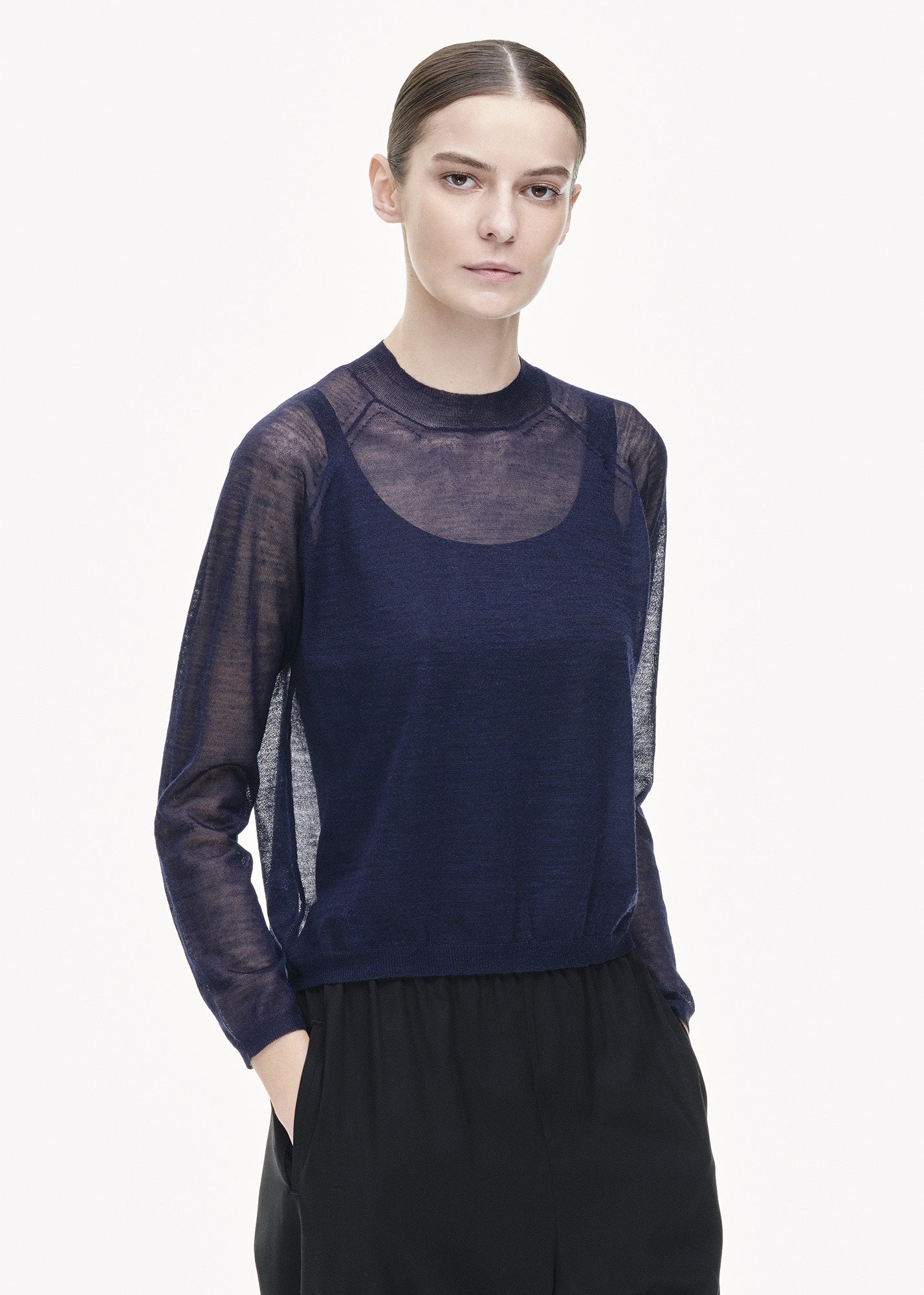 Sheer A-Line Sweater