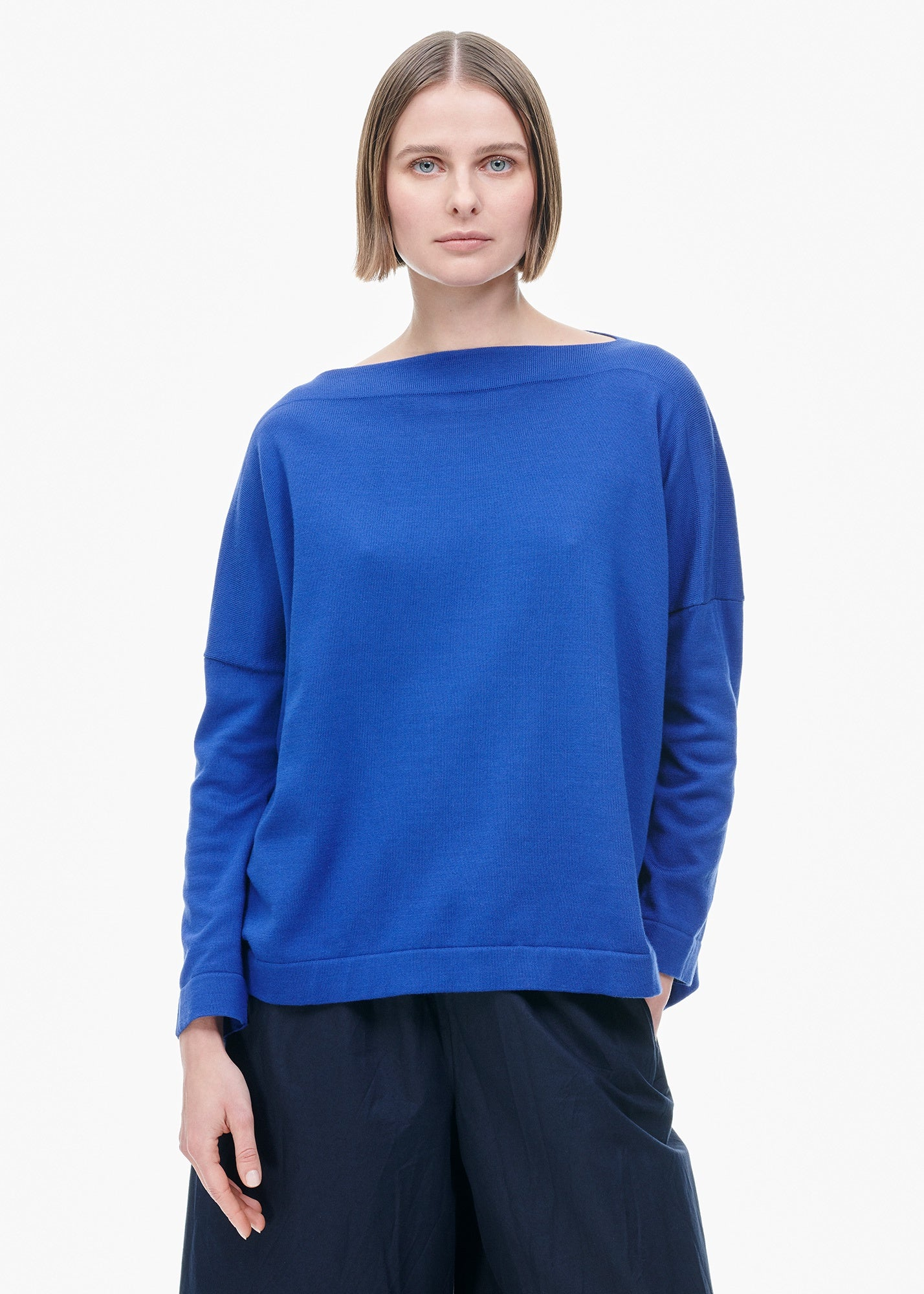 Boatneck Sweater Electric Blue