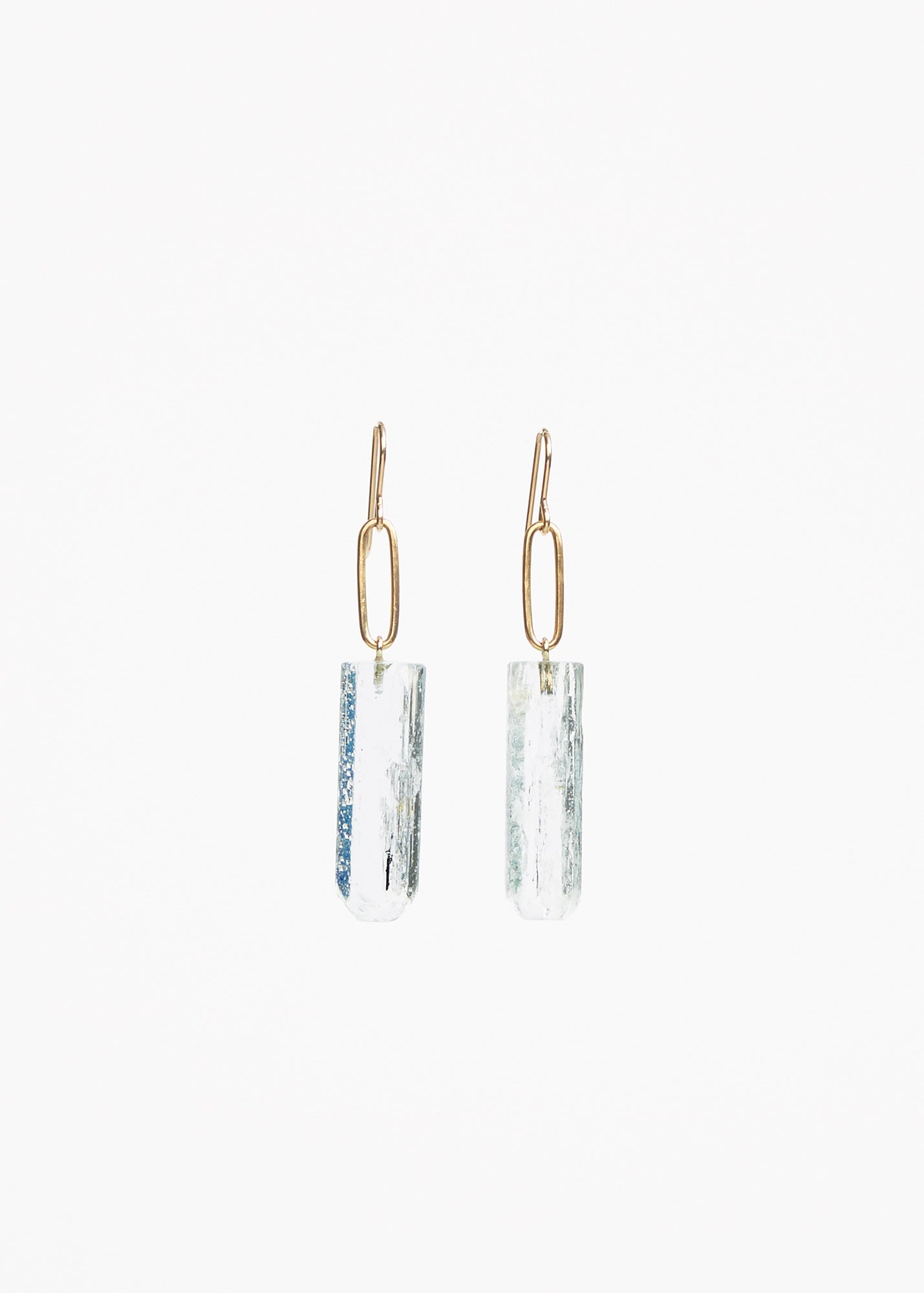 Natural Aquamarine Crystal Earrings
