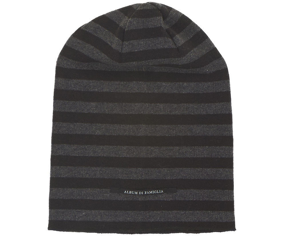 Album di Famiglia Calottina Hat Grey/ Black Stripe