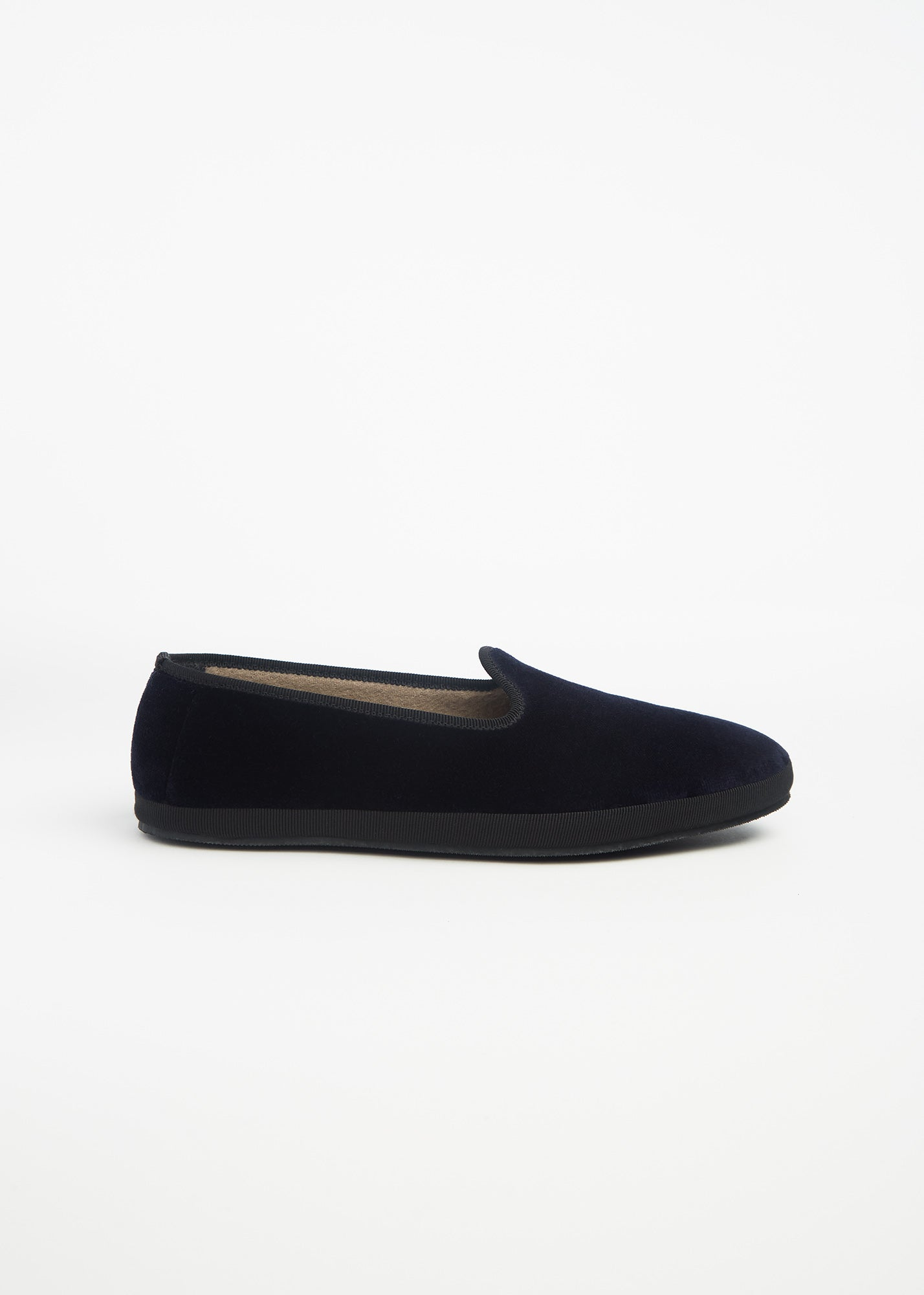 Velvet Slippers Navy Blue