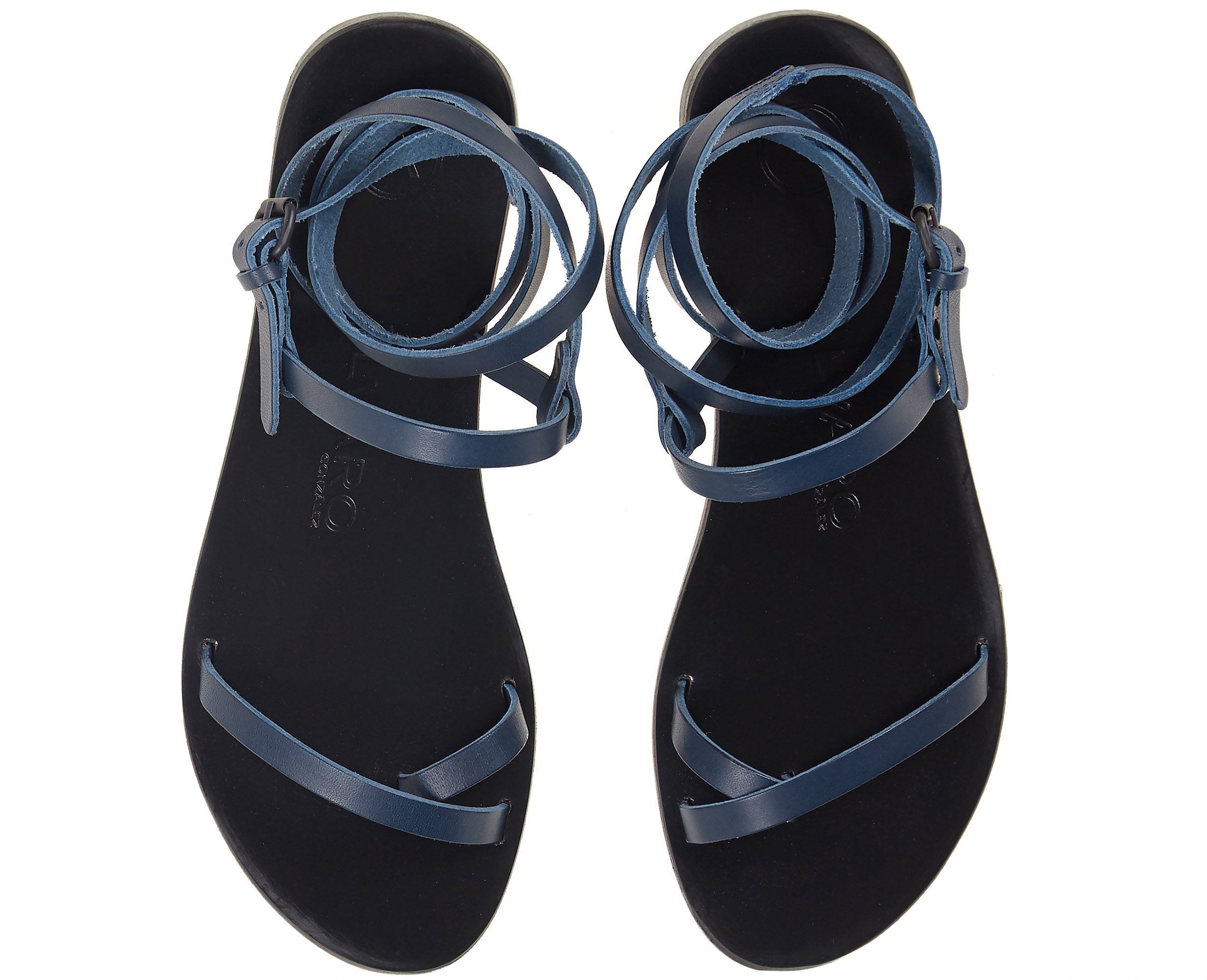 Anna Sandal Blue/ Black