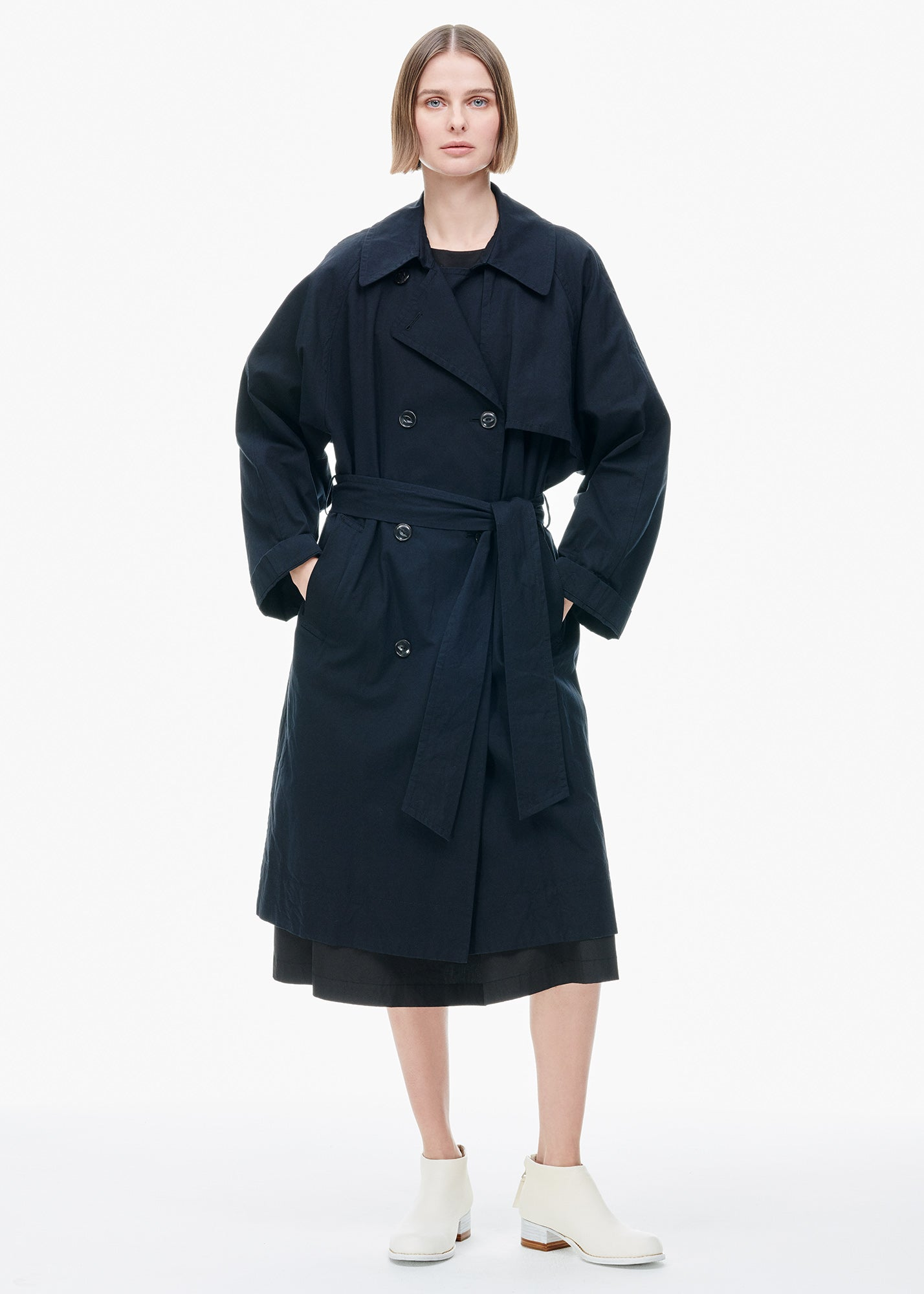 Loose Fit Trench Coat