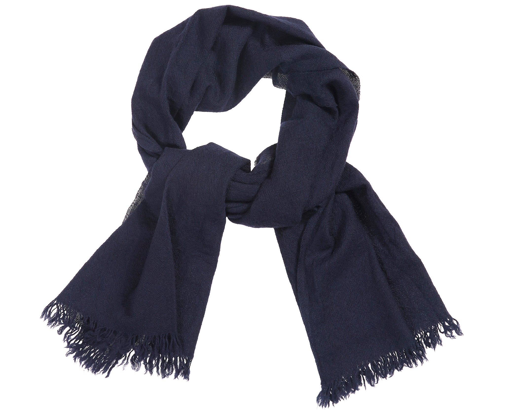 Kishorn Washed Scarf Navy