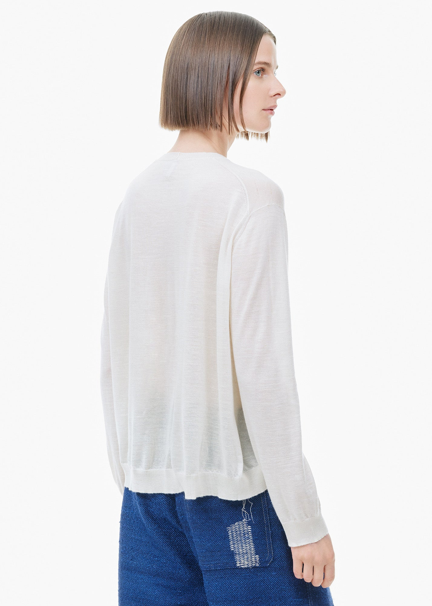 Cashmere/ Silk Sweater Cream
