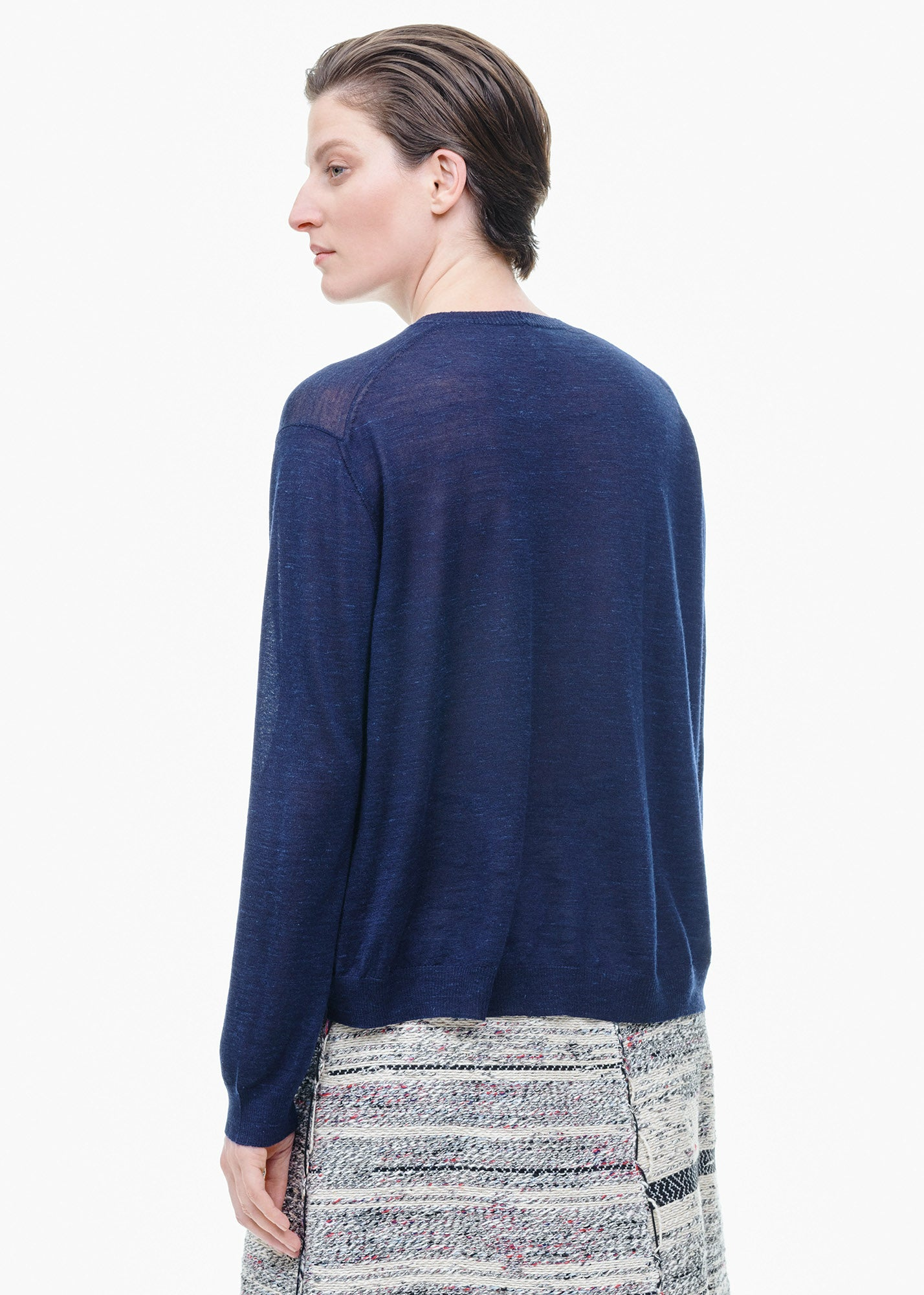 Cashmere /Silk Sweater Navy